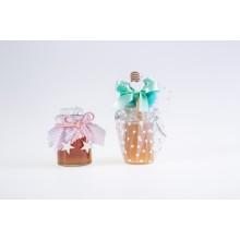 Bomboniera,  miele in vaso da 125 gr , vaso ermetico da 170gr con spargimiele